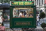 Traditional ice cream stall, central London, England