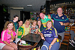 Teresa Walsh, Dana Hickey, Lynn Culloty, Ann Conway, Teresa Carroll, Teresa Jamal, Anton Carroll, Bernie O'Carroll, Pat Carroll getting ready to watch the all Ireland Final, Kerry V Donegal, on Sunday at the Greyhound Bar
