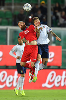Italy's Giovanni Di Lorenzo jump for the ball with Armenia's Aleksandr Karapetyan <br /> Palermo 18-11-2019 Stadio Renzo Barbera <br /> UEFA European Championship 2020 qualifier group J <br /> Italy - Armenia <br /> Photo Carmelo Imbesi / Insidefoto