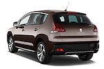 Rear three quarter view of a 2014 Peugeot 3008 5 Door SUV 2WD