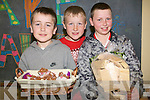 Children at Raheen National School organised a major cake sale at the school last Thursday to raise funds for Haiti. .L-R Jonathon Bowler, TJ Leader and Tom O'Rourke selling cakes and sticks to help support the fund-raiser.