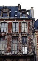 Paris: Place Des Vosges--unrestored upper story.
