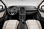Stock photo of straight dashboard view of2016 Mazda CX5 Premium Edition 5 Door SUV Dashboard