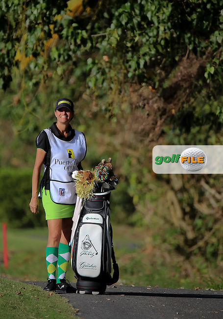 06 MAR 15 Caddie Anna waits for JD to the left of 18 fairway during the Second Round of The Puerto Rico Open at The Trump International Golf Club in Rio Grande,  Puerto Rico  (photo credit : kenneth e. dennis/kendennisphoto.com)