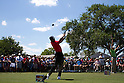 Tiger Woods (USA),.MARCH 25, 2012 - Golf :.Tiger Woods of United States tees off on the 1st hole during the final round of the Arnold Palmer Invitational at Arnold Palmer's Bay Hill Club and Lodge in Orlando, Florida. (Photo by Thomas Anderson/AFLO)(JAPANESE NEWSPAPER OUT)