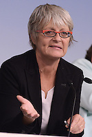 Roma, 7 Ottobre 2014<br /> Palzzo Chigi <br /> Conferenza stampa delle e dei leader sindacali al termine dell'incontro col Governo sul jobs act.<br /> Annamaria Furlan.<br /> Rome, October 7, 2014 <br /> Palzzo Chigi <br /> Press conference of union's leader after the<br /> meeting with the Prime Minister  on jobs act
