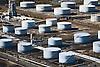 Aerial Photograph of the Narova petroleum vessel docked at Oil Refinery Along delaware river near  philadelphia, pa.