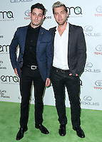 BURBANK, CA, USA - OCTOBER 18: Michael Turchin, Lance Bass arrive at the 2014 Environmental Media Awards held at Warner Bros. Studios on October 18, 2014 in Burbank, California, United States. (Photo by Xavier Collin/Celebrity Monitor)