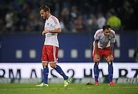FUSSBALL   1. BUNDESLIGA    SAISON 2012/2013    8. Spieltag   Hamburger SV - VfB Stuttgart            21.10.2012 Rafael van der Vaart (li) und Heiko Westermann (re, beide Hamburger SV) sind nach dem Abpfiff enttaeuscht
