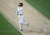 23rd March 2018, Eden Park, Auckland, New Zealand; International Test Cricket, New Zealand versus England, day 2;  Kane Williamson looks skyward during his century innings
