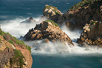 Seascape at Point Lobos on windy day