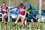 Julianne O'Keeffe Kerry in action against Sandra McGrath Westmeath in the 2019 Camogie League Division 2 at John Mitchells GAA grounds in Tralee, on Sunday.