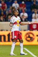 Thierry Henry (14) of the New York Red Bulls. Sporting Kansas City defeated the New York Red Bulls 1-0 during a Major League Soccer (MLS) match at Red Bull Arena in Harrison, NJ, on April 17, 2013.