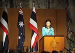 Prime Minister of Thailand Yingluck Shinawatra speaks at a Parliamentary luncheon at Parliament House, Canberra, on Monday May 28th 2012. AFP PHOTO / Mark GRAHAM