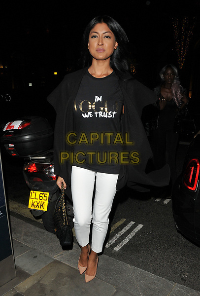 Farah Sattaur at the LOTD x Louise Thompson womenswear collection launch party, STK London, ME London Hotel, The Strand, London, England, UK, on Tuesday 21 November 2017.<br /> CAP/CAN<br /> &copy;CAN/Capital Pictures