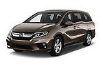 2018 Honda Odyssey EX-L 5 Door Mini Van angular front stock photos of front three quarter view
