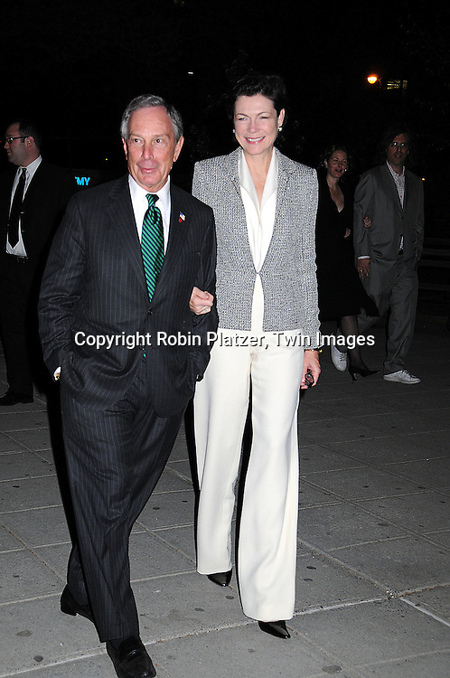 Mayor Michael Bloomberg and Diana Taylor..arriving at The Vanity Fair Party to open The 2008 Tribeca..Film Festival on April 22, 2008 at The State Supreme Court House in New York City. ....Robin Platzer, Twin Images