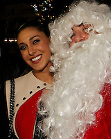 Giornate Professionali del Cinema 2014                              Belen Rodriguez plays whit beard of santa klaus during  then professional days of cinema in Sorrento december 01, 2014