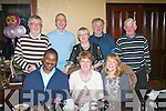 FIFTY: Claire Hayles, Currow, who is seated next to her husband Izet, and Sarah Noonan celebrated her 50th birthday last Friday night in the Grand Hotel restaurant, Denny St, Tralee, also enjoying the party were back l-r: Ted Heaslip, Peter Noonan, Mary Heaslip, Keith O'Connor and Neilus O'Sullivan.