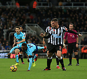 4th November 2017, St James Park, Newcastle upon Tyne, England; EPL Premier League football, Newcastle United Bournemouth; Jermain Defoe of AFC Bournemouth is fouled by Ciaran Clark of Newcastle United in the 0-1 win