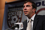 10 AUG 2010: Kenny Arena presents his father, 2010 Builder Inductee Bruce Arena (not pictured). The 2010 National Soccer Hall of Fame Induction Ceremony was held at New Meadowlands Stadium in East Rutherford, New Jersey.
