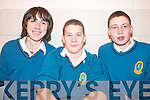 LECTURE: Mercy Mounthawk students listening to the lecture by Nobel Prize winner, Sir Clive Granger at the school on Monday morning, l-r: PJ Barry, Philippe Barnot and Patrick Dillane.   Copyright Kerry's Eye 2008