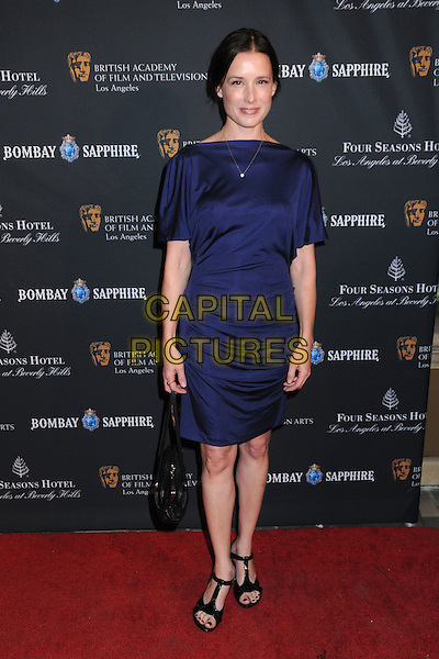 SHAWNEE SMITH .17th Annual BAFTA Los Angeles Awards Season Tea Party held at the Four Seasons Hotel, Beverly Hills, California, USA, 15th January 2011..full length blue dress black bag sandals t-bar .CAP/ADM/BP.©Byron Purvis/AdMedia/Capital Pictures.