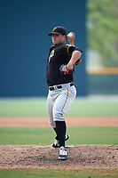 Pittsburgh Pirates Julio Vivas (94) during a minor league Spring Training game against the New York Yankees on April 1, 2016 at Pirate City in Bradenton, Florida.  (Mike Janes/Four Seam Images)