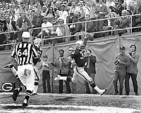 Oakland Raider Don Highsmith scores TD against the Philadelphia Eagles...(1971 photo/Ron Riesterer)