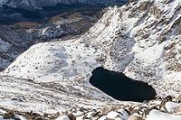 Frozen Lake from the summit of Mt. Bierstadt
