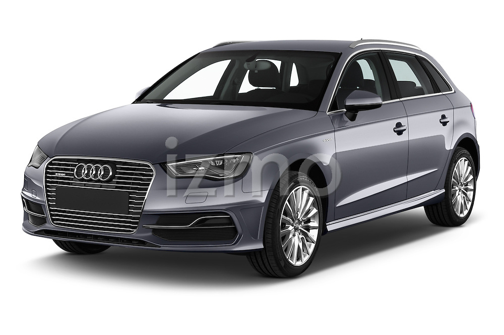2015 Audi A3 Ambiente 5 Door Hatchback 2WD Angular Front stock photos of front three quarter view