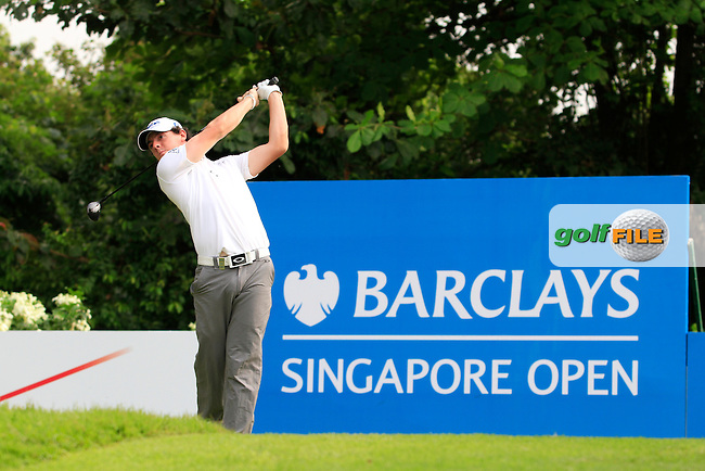 Rory McIlroy (NIR) on the 1st during Round 3 of the Barclays Singapore Open, Sentosa Golf Club, Singapore. 10/11/12..(Photo Jenny Matthews/www.golffile.ie)