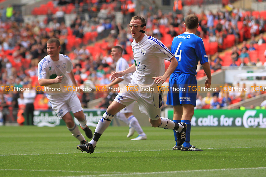 Mattie Moffat peels away to celebrate what his thinks is an equaliser - Dunston UTS vs West Auckland Town - FA Challenge Vase Final at Wembley Stadium, London - 13/05/12 - MANDATORY CREDIT: Simon Roe/TGSPHOTO - Self billing applies where appropriate - 0845 094 6026 - contact@tgsphoto.co.uk - NO UNPAID USE.