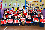 The junior infants of St. Brigid's Girls National School with their Music Matters Certificates. www.newsfile.ie
