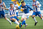 Kilmarnock v St Johnstone...19.09.15  SPFL Rugby Park, Kilmarnock<br /> Michael O'Halloran is fouled by Lee Ashcroft<br /> Picture by Graeme Hart.<br /> Copyright Perthshire Picture Agency<br /> Tel: 01738 623350  Mobile: 07990 594431