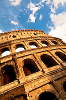 Rome, Italy Close up details of the Colosseum, Rome, Italy
