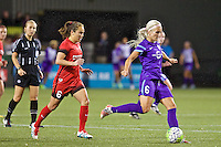 Portland, Oregon - Sunday April 17, 2016: Orlando Pride midfielder Kaylyn Kyle (6). The Portland Thorns play the Orlando Pride during a regular season NWSL match at Providence Park. The Thorns won 2-1.