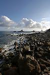Rocky sea shore, Roque de las bodegas, Tenerife , Canary Islands.