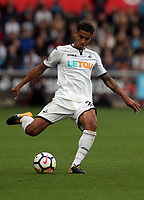 Kyle Naughton of Swansea City in action during the Premier League match between Swansea City and Watford at The Liberty Stadium, Swansea, Wales, UK. Saturday 23 September 2017