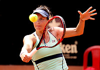 BOGOTÁ -COLOMBIA, 9-04-2018:María Tatjana de Alemania derrotó a la española Georgina García Pérez  ,durante el Claro Open Colsánitas que se juega en el Club Los Lagartos al norte de la capital ./ María Tatjana of Germany won the Spanish Georgina García Pérez, during the Claro Open Colsánitas that is played at El Club Los Lagartos north of the Capital. Photo: VizzorImage/ Felipe Caicedo / Staff