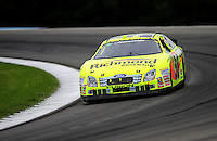 Aug. 8, 2009; Watkins Glen, NY, USA; NASCAR Nationwide Series driver Paul Menard during the Zippo 200 at Watkins Glen International. Mandatory Credit: Mark J. Rebilas-