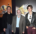 Reeve Carney & Robert Cuccioli from Broadway's 'Spider-Man Turn Off The Dark'  visit with Norman Platnik curator of  'Spiders Alive!' at the American Museum of Natural History in New York City on 9/18/2012.