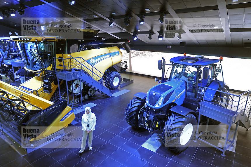 - Milano, Esposizione Mondiale Expo 2015, padiglione dei trattori New Holland<br /> <br /> - Milan, the World Exhibition Expo 2015, pavillion of New Holland tractors