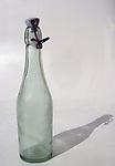 Old bottle with ceramic bottle stopper.