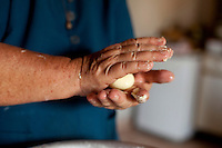 Carmo do Cajuru_MG, Brasil...Producao de pao de queijo em Carmo do Cajuru, Minas Gerais...Pao de queijo (typical food in Minas Gerais, Brazil) production in Carmo do Cajuru, Minas Gerais...Foto: LEO DRUMOND / NITRO