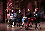 """Holli Campbell, Sabrina imamura, Lauren Boyd and Bryan Terrell Clark attends the cast Q & A during The Rockefeller Foundation and The Gilder Lehrman Institute of American History sponsored High School student #EduHam matinee performance of """"Hamilton"""" at the Richard Rodgers Theatre on October 24, 2018 in New York City."""