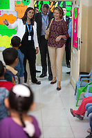 Queen Mathilde of Belgium visits UNICEF Makani Center in Mafraq - Jordan