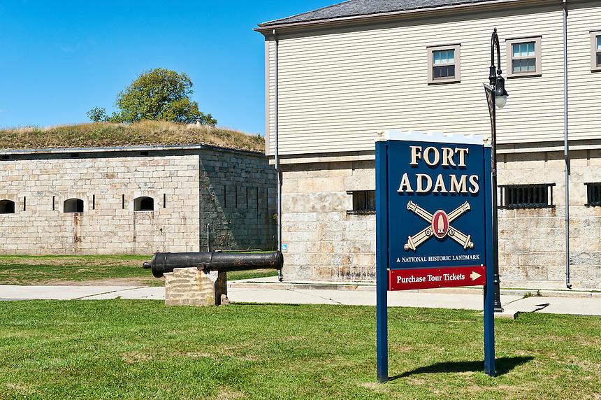 Fort Adams, Newport, RI, Rhode Island, USA