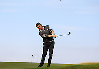 Brian O'Driscoll (AM) on the 11th fairway during Round 3 of the 2015 Alfred Dunhill Links Championship at Kingsbarns in Scotland on 3/10/15.<br /> Picture: Thos Caffrey | Golffile