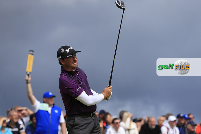 Graeme McDOWELL (NIR) tees off the 17th tee during Sunday's Round  of the 144th Open Championship, St Andrews Old Course, St Andrews, Fife, Scotland. 19/07/2015.<br /> Picture Eoin Clarke, www.golffile.ie
